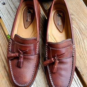 GIORGIO BRUTINI Mens Leather Brown Loafers